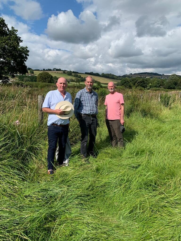 Paddy O'Gorman and his brothers near where his Grandfather died in Bishopsteignton