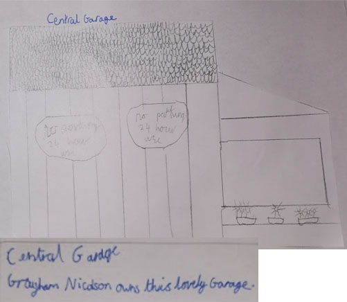 Central Garage drawing