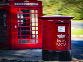 Post and telephone boxes